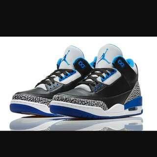 Jordan3代藍色 爆裂💙