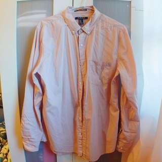 Forever21 粉紅色 夏季襯衫 休閒襯衫