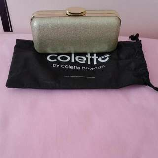 Gold Glitter Colette Clutch