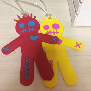 Apujiu✨voodoo可愛人形塑膠行李吊牌掛飾
