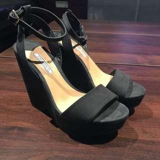 Tony Bianco Black Platform Heels