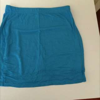 Blue Skirt From Missguided