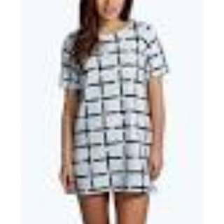 Boohoo Petite - Grid Print Shift Dress