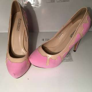 Pink And Caramel drip Shoes #pickmesophie