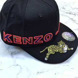 BN SMALL AUTHENTIC KENZO X H&M HM BLACK S CAP SNAPBACK EMBROIDERY TIGER
