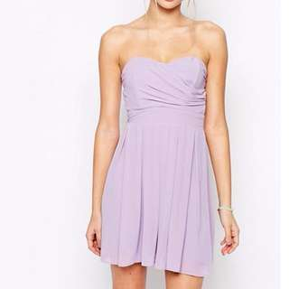 Prom / Party Dress - Pleated Chiffon Dress