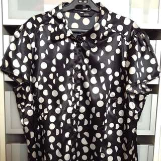 Marks & Spencer Polka Dots Button Down Top