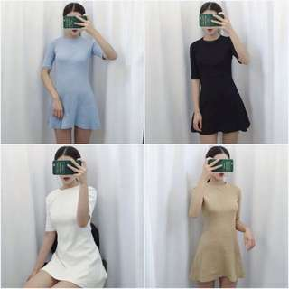 Korean Basic A-line Dress