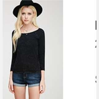 Forever 21 Cotton 3/4 Top