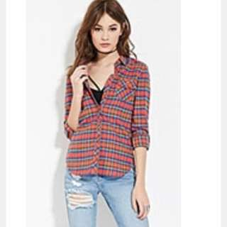 Forever 21 Woven Cotton Shirt