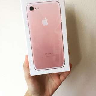 Iphone7玫瑰金32g全新