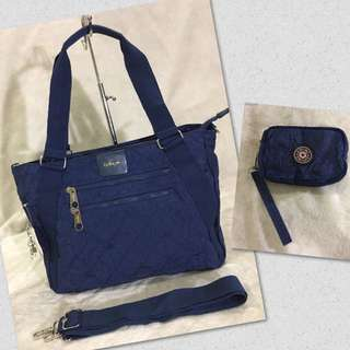 KIPLING BAG NAVY BLUE