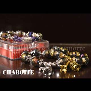 Charoite Charm Bracelet