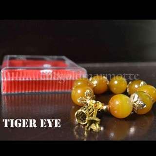 Tiger Eye Charm Bracelet