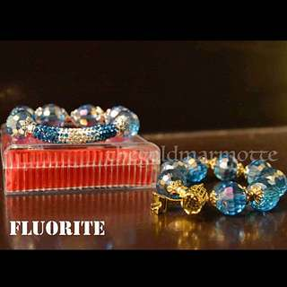 Fluorite Charm Bracelet