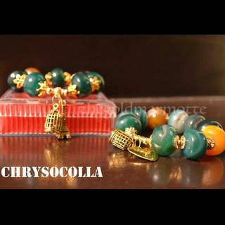 Chrysocolla Charm Bracelet