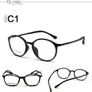 韓版復古近視膠框眼鏡 超輕8克