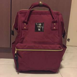 Authentic Anello Polyester Large Backpack Bag