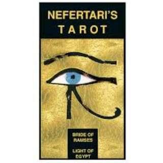 【預馨緣塔羅鋪】現貨正版埃及之光塔羅Nefertari's Tarot(附中文說明)(燙金版)