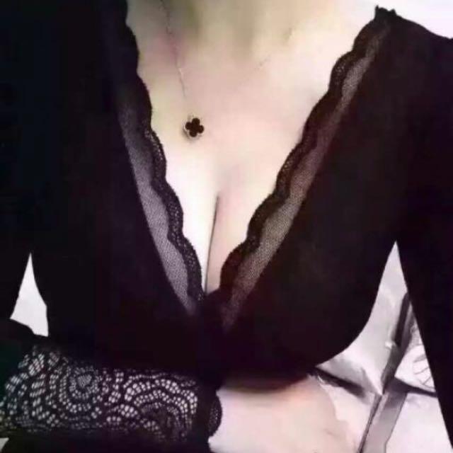 蕾絲加絨上衣