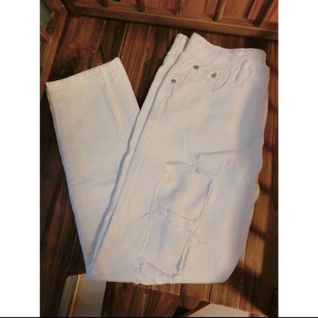🔺破洞牛仔白褲🔻