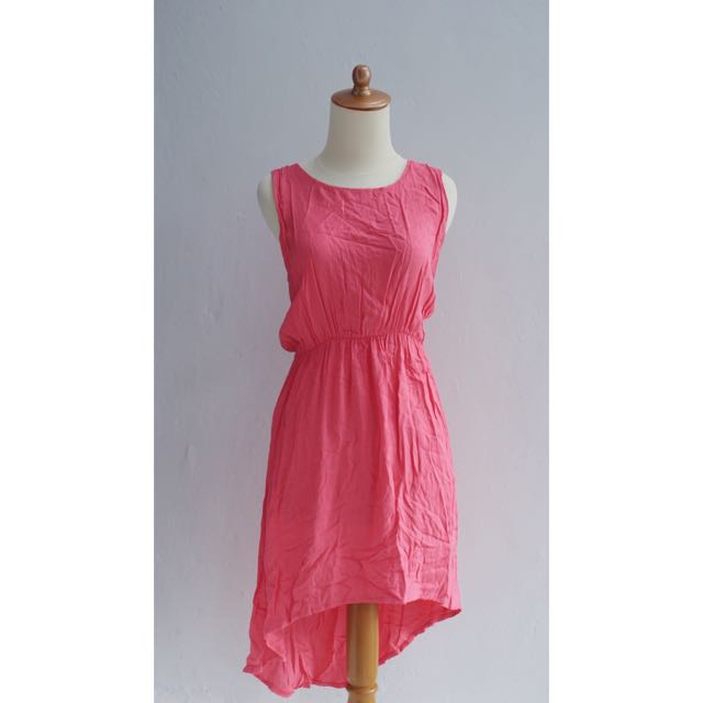/ Pink Asymmetric Dress /
