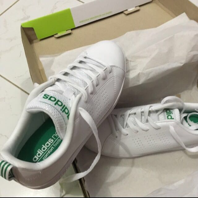 ADIDAS NEO ADVANTAGE WHITE-GREEN