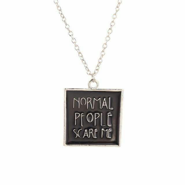 American Horror Story Normal People Scare Me Necklace