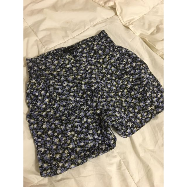 Aritzia Blue Floral Shorts
