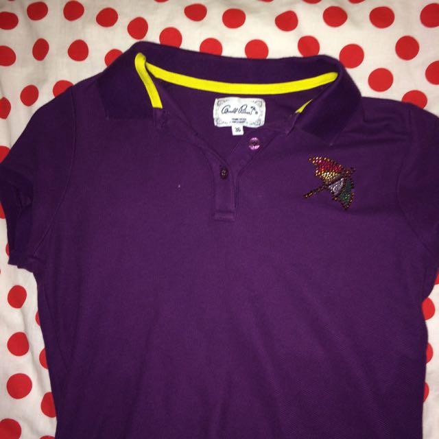 arnold palmer雨傘 短袖上衣 紫