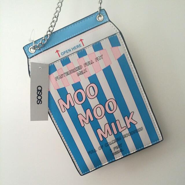ASOS novelty Milk Carton Bag