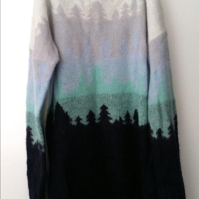 ASOS Ombre Blue Wool Jumper Sz4