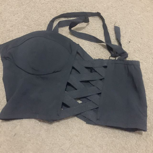 Black Cut Out Crop