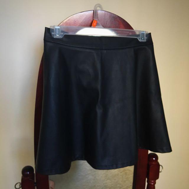 Black Dynamite Leather Skirt