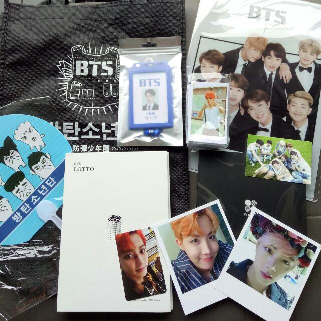Clearing Bts Exo Official Unofficial Merch Entertainment K Wave On Carousell