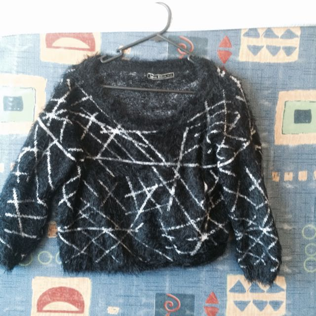 Cropped Furry Jumper