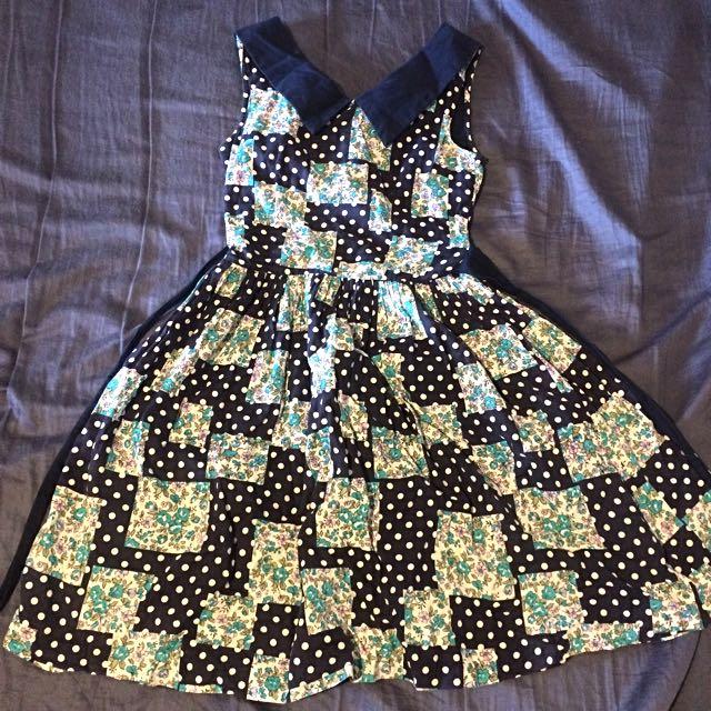 Dangerfield Revival Dress Vintage Style 8 Small Medium