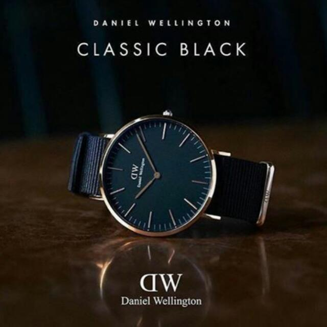 Daniel Wellington Classic Black With NATO strap, Men's Fashion, Watches on Carousell