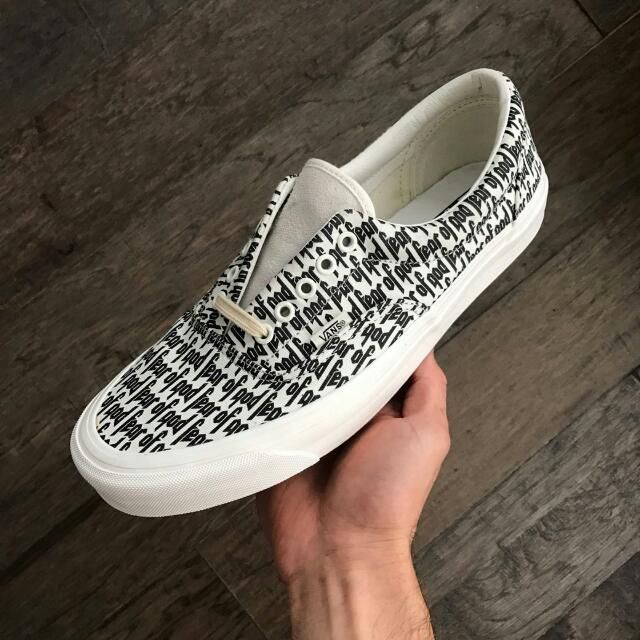vans authentic fear of god