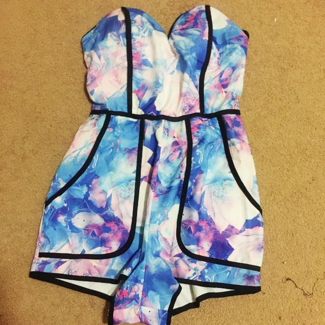Floral Strapless Playsuit