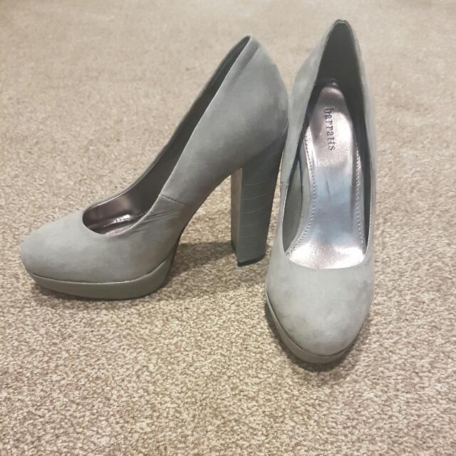 Gray colour heels. US size 4, NZ size 7