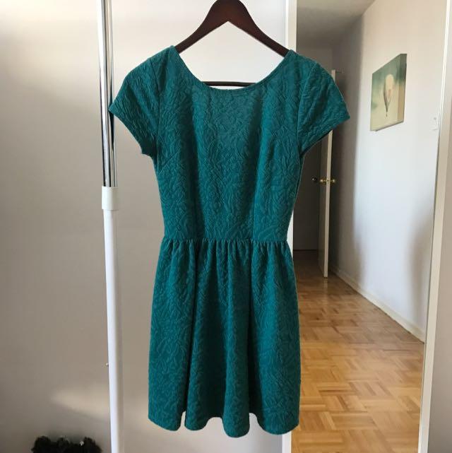 Green Zipper Dress