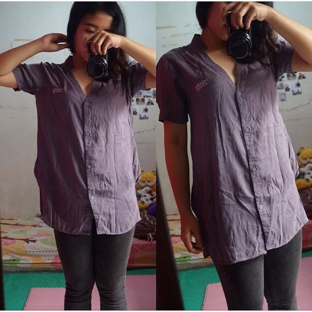 GREY LOOSE SHIRT