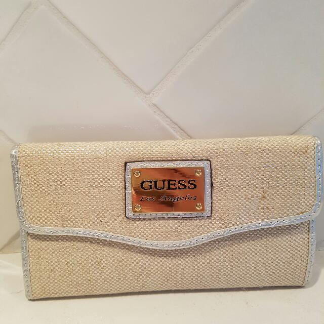 Guess Ladies Champagne Gold Silver Wallet