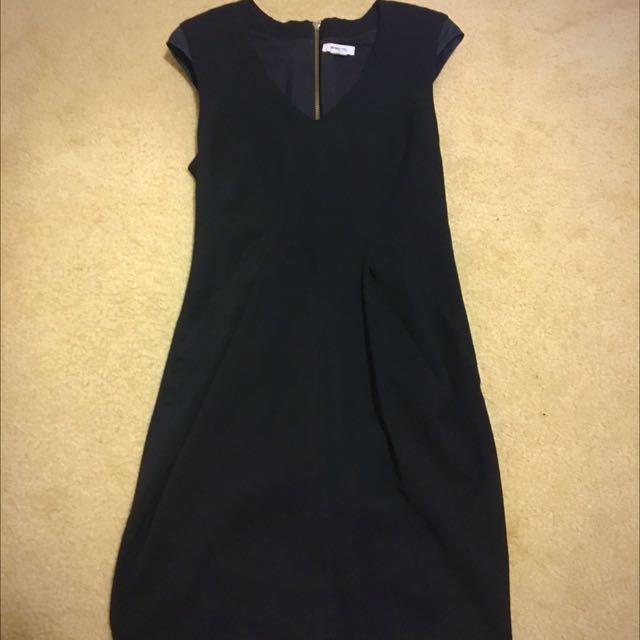 Helmut Lang Wool Black Dress