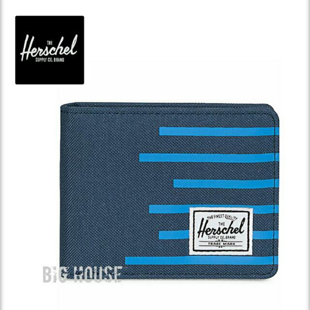 Herschel Supply Roy Navy & Cobalt Stripe Bifold Wallet