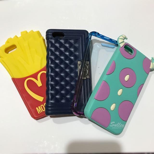 🍎I Phone 5 5S SE手機殼 玩味名牌殼/怪獸殼/透明漸層防撞邊框殼 軟殼 矽膠殼 防撞殼