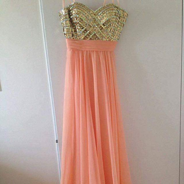 Imported La Femme Long Orange Dress