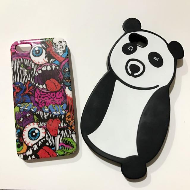 🍎IPhone 5 5S SE手機殼 視覺系龐克彩繪硬殼/日本設計師牌FRAPBOIS熊貓手機矽膠軟殼 日本帶回