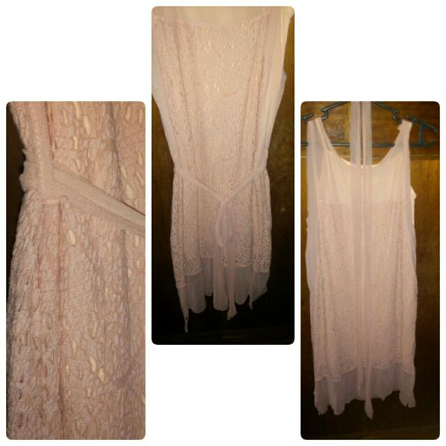 Lace Dress (Pink/Peach)
